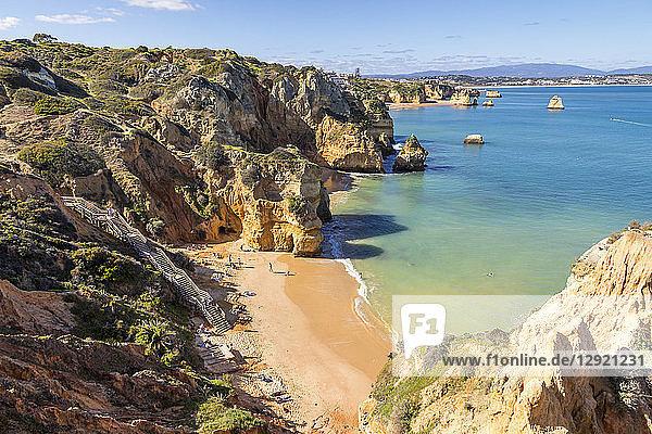 Camilo Beach near Lagos  Algarve  Portugal  Europe