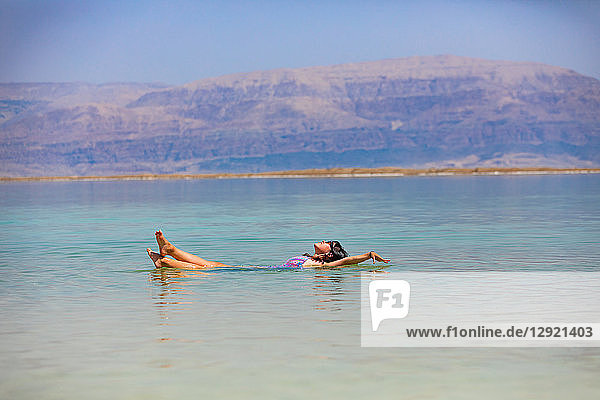 Fun in the Dead Sea  Israel  Middle East
