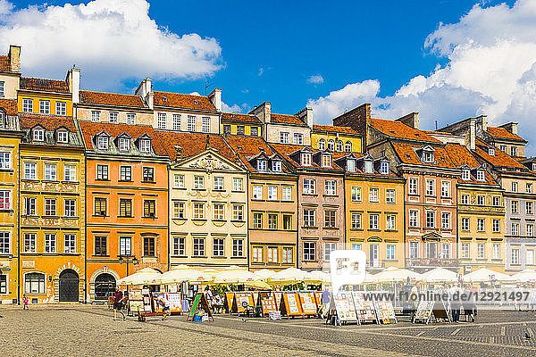 Old Town Market Square  Old Town  UNESCO World Heritage Site  Warsaw  Poland