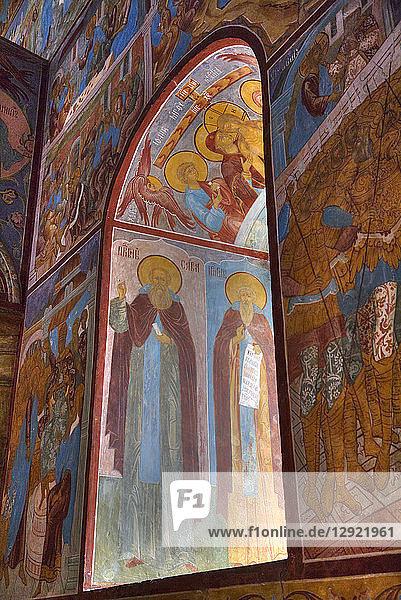 Frescoes  Miracle Image of the Saviour Church  Kremlin  Rostov Veliky  Golden Ring  Yaroslavl  Russia