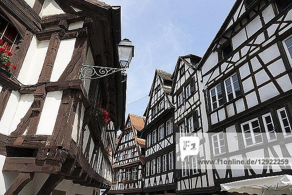 Medieval buildings  Petite France  UNESCO World Heritage Site  Strasbourg  Alsace  France  Europe