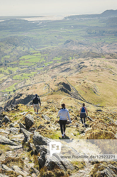 Climbing Cnicht  Snowdonia National Park  North Wales  Wales  United Kingdom  Europe