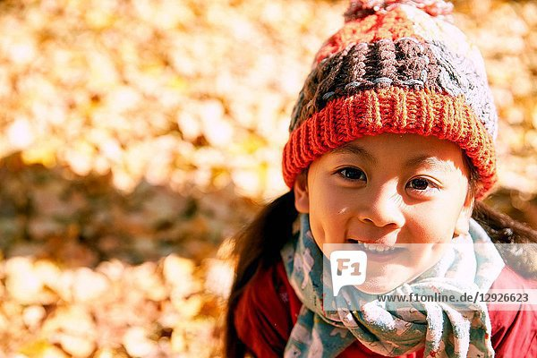Lovely little girl in the outdoor