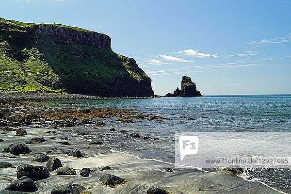 The Talisker Beach is near the village of Carbost on the Isle of Skye.