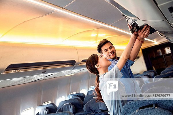 Young couples to travel by plane