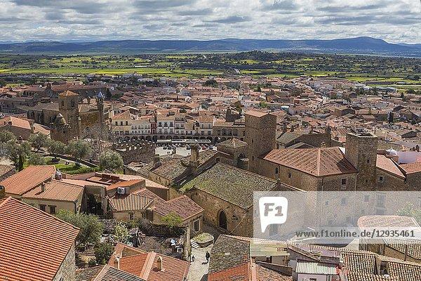 Cityscape from the bell-tower of Santa Maria la Mayor church  Trujillo  Extremadura  Spain.