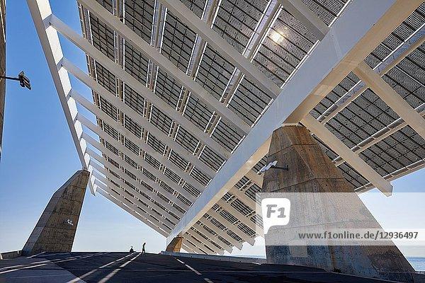 Photovoltaic pergola  by Elias Torres & José Antonio Martínez Lapeña  Forum  Barcelona  Catalunya  Spain  Europe