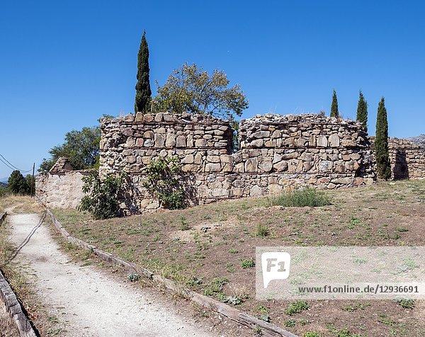 Castillo viejo de Manzanares el Real. Madrid. España.