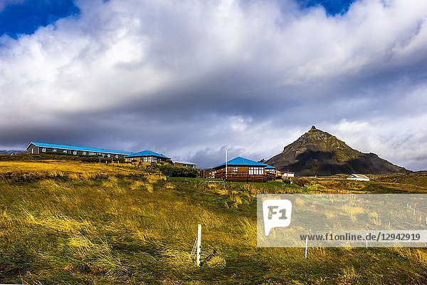 Houses in Hellnar  Snaefellsnes peninsula  Iceland.