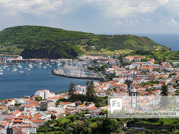 Horta  the main town on Faial. Faial Island  an island in the Azores (Ilhas dos Acores) in the Atlantic ocean. The Azores are an autonomous region of Portugal.