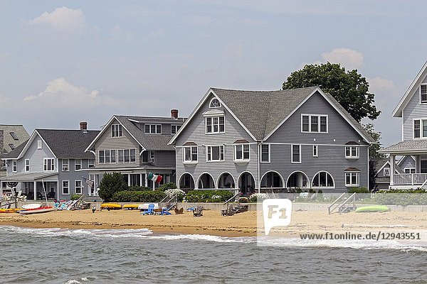 Beachfront homes in Madison  Connecticut  United States.