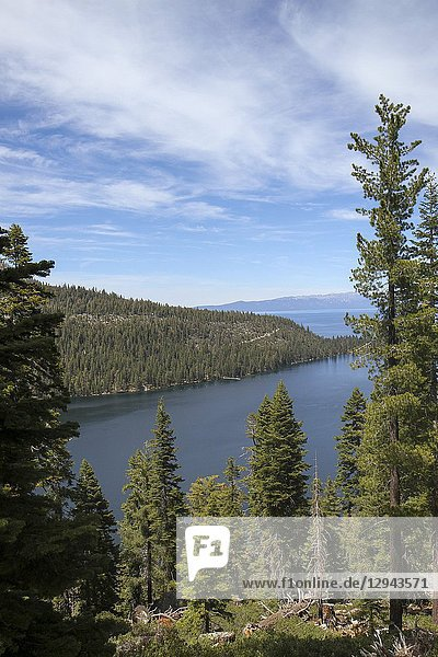 View from Inspiration Point  Emerald Bay  Lake Tahoe  California  United States.