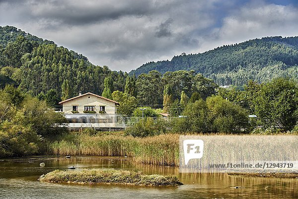 Train Station of Axpe-Busturia  Biscay  Basque Country  Euskadi  Euskal Herria  Spain  Europe.