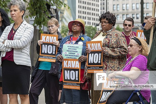 Detroit  Michigan USA - 27 September 2018 - While Dr. Christine Blasey Ford was testifying before a U. S. Senate committee about being sexual assaulted by Supreme Court nominee Brett Kavanaugh  women gathered on a downtown street to say they believe her. It was part of a National Solidarity Speakout in support of Dr. Ford.