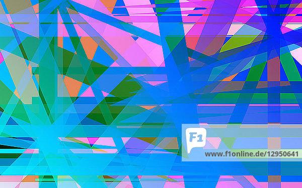 Komplexes sich kreuzendes hell leuchtendes gestreiftes abstraktes Muster