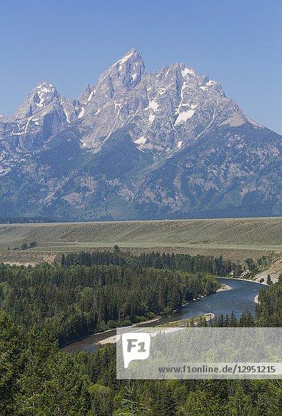 Snake River Overlook  Teton Range  Grand Teton National Park  Wyoming  USA.