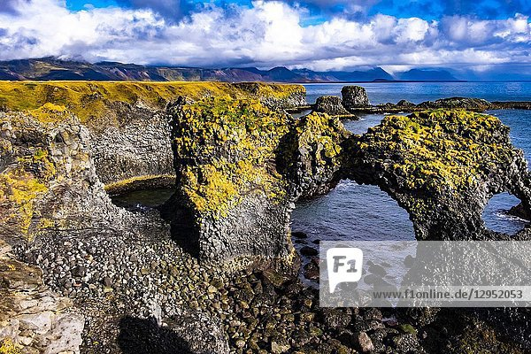 Gatklettur - Arch Rock  Snaefellsnes peninsula  Iceland.