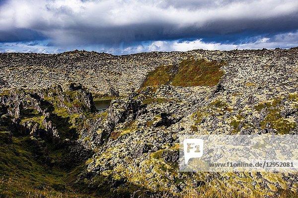 Lava fields of Snæfellsnes in West-Iceland.