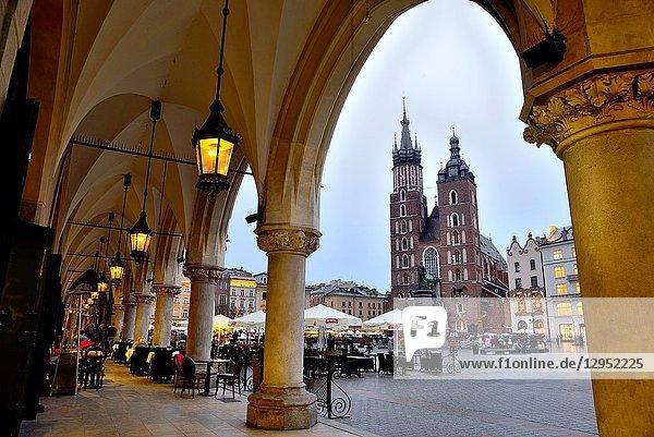 Market square or Rynek. Our Lady of Santa Maria  Krakow  Poland.