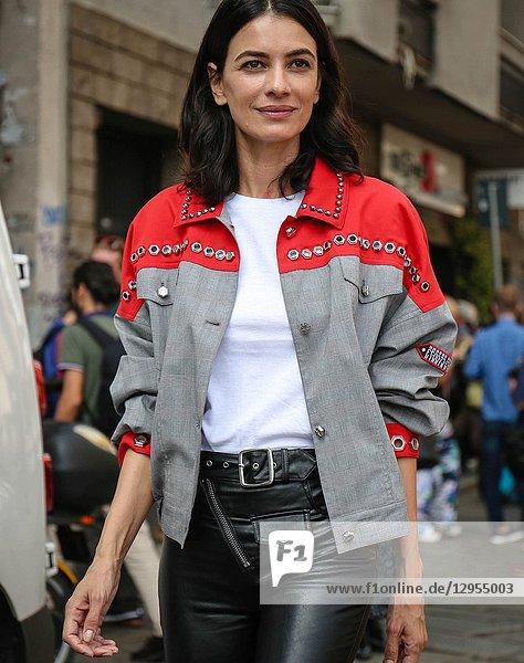 MILAN- 19 September 2018 Women on the street during the Milan Fashion Week.