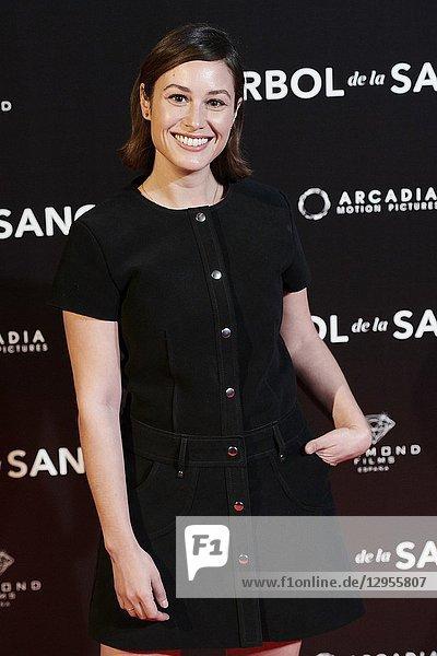 Aida Folch attends 'El árbol de la sangre' premiere at Capitol Cinema on October 24  2018 in Madrid  Spain