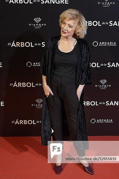 Marisa Paredes attends 'El árbol de la sangre' premiere at Capitol Cinema on October 24  2018 in Madrid  Spain