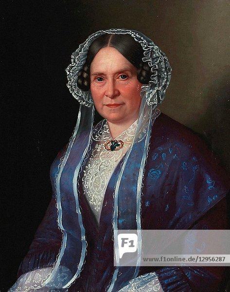 Gertner Johan Vilhelm - Portrait of a Lady in a Blue Dress.