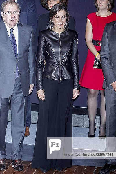 Queen Letizia of Spain attends the screening of the film 'Safety Last! (1923) with the accompaniment of the Castilla y Leon Symphony Orchestra  within the framework of the 63rd edition of the Valladolid International Film Week (Seminci) at Miguel Delibes Auditorium on October 26  2018 in Valladolid  Spain.26/10/2018.