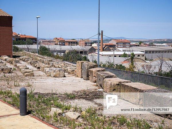 Yacimiento romano La Clínica. Calahorra. La Rioja. Spain.