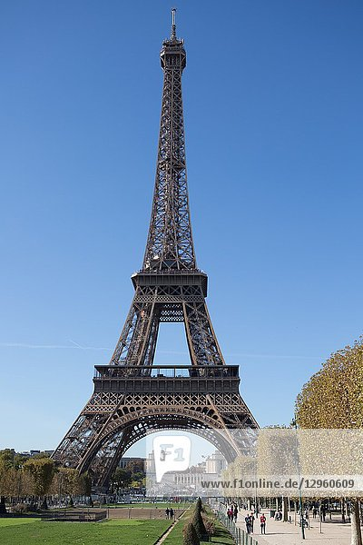 The Eiffel Tower in Paris  France is immediately recognzed around the world as a symbol of Paris and France.