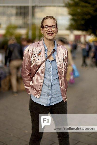 Portrait of a woman in city Berlin  Germany