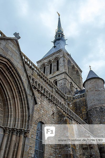 The Medieval La Mont Saint-Michel Abbey in Normandy Province in France is one of the most popular destinations for visitors.
