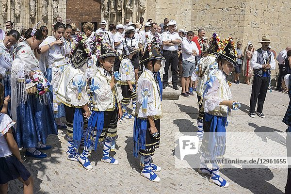 MORELLA SPAIN ON AUGUST 26 2018: The Sexenni is one of the oldest festival in Spain  was celebrated for the first time in 1678  after establishing the council a sexennial celebration in honor Vallivana Virgin.