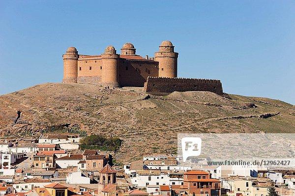 La Calahorra  Granada Province  Spain  16th century castle above village.