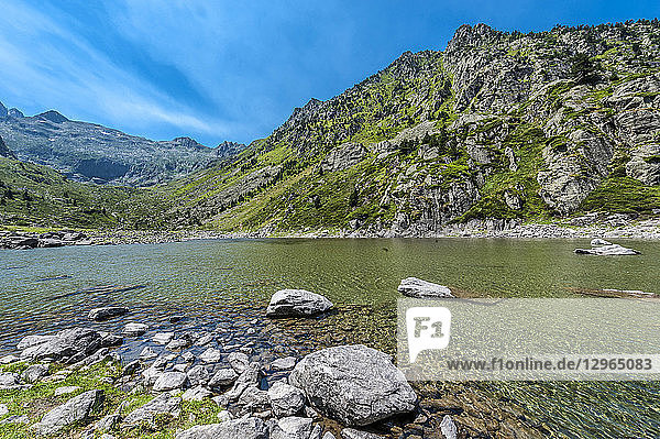 France  Pyrenees National Park  Occitanie region  Val d'Azun  Haute-vallee d'Estaing  lake of Plaa de Prat 1 656 meters