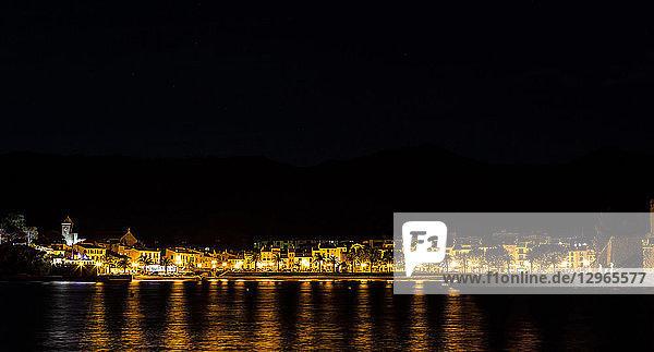 Night Collioure  Pyrenees-Orientales  Catalonia  Cote-de-Vermeille  Languedoc-Roussillon  France