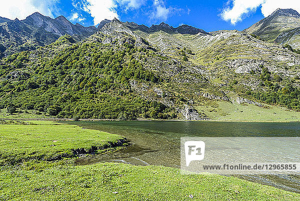 France  Pyrenees National Park  Occitanie region  Val d'Azun  Estaing lake