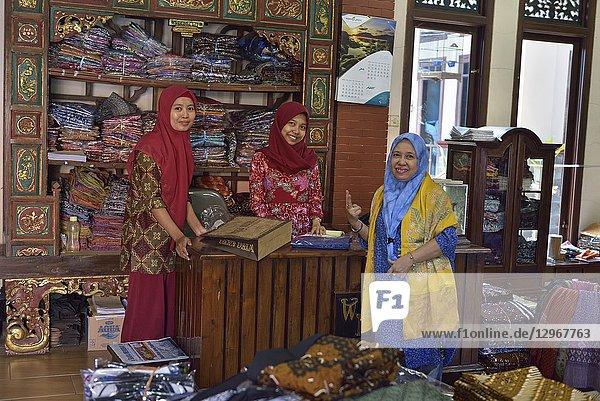Batik Gallery and shop Wirakuto  Pekalongan  Java island  Indonesia  Southeast Asia.