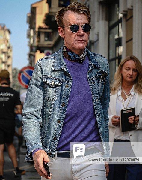 MILAN  Italy- September 19 2018: Ken Downing on the street during the Milan Fashion Week.