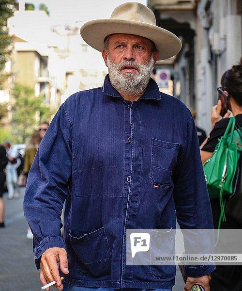MILAN  Italy- September 19 2018: Robert Rabensteiner on the street during the Milan Fashion Week.