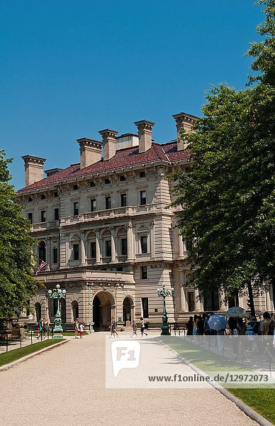 Newport Rhode Island famous The Breakers on the Mansions Drive
