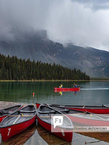 Canadian Rockies. Emerald Lake.