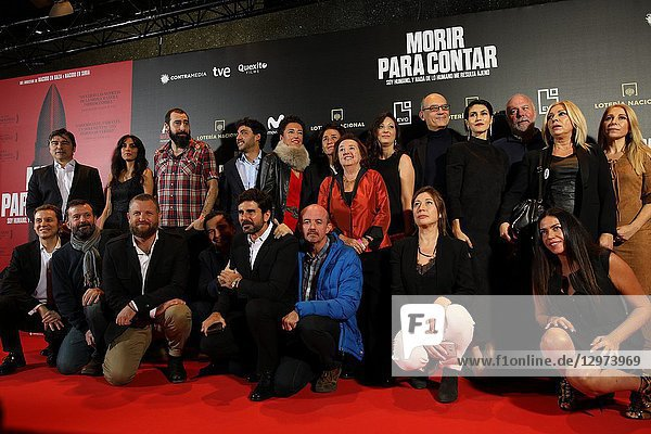 The premiere of the Official Section of the documentary MORIR PARA CONTAR at the Madrid Premiere Week. Hernán Zin  the director  interviews other journalists and asks them about their traumas  their losses  their fears and their families on Nov 13  2018 in Madrid  Spain