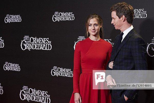 Eddie Redmayne  Hannah Bagshawe attends Fantastic Beasts: The Crimes Of Grindelwald' Premiere at Kinepolis Cinema on November 15  2018 in Madrid  Spain