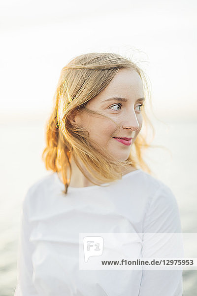 Portrait of a young woman in Karlskrona  Sweden