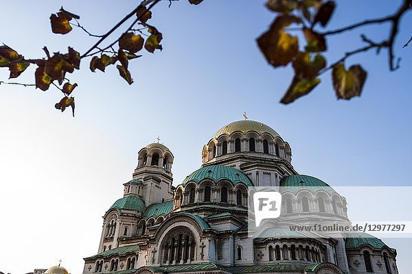 The St. Alexander Nevsky Cathedral in the historic Bulgarian capital. Sofia  Bulgaria.