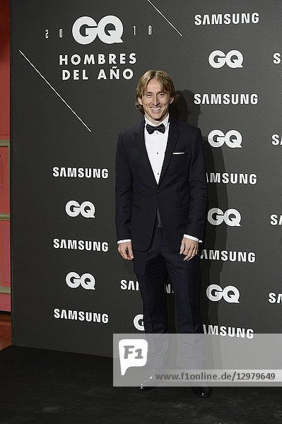 Luca Modric attends GQ Men of the Year Awards 2018 at Palace Hotel on November 22,  2018 in Madrid,  Spain