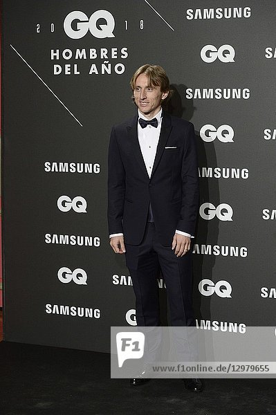 Luca Modric attends GQ Men of the Year Awards 2018 at Palace Hotel on November 22  2018 in Madrid  Spain