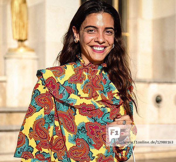 PARIS  France- September 26 2018: Georgia Tal on the street during the Paris Fashion Week.