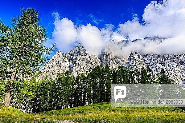 Mount Prisank (2547m). Triglav National Park. Julian Alps. Upper Carniola region. Slovenia  Europe.